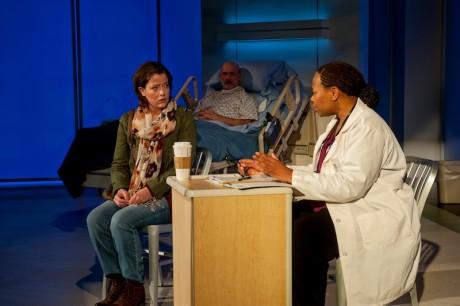 Megan Anderson (Raina), Mitchell Hebert (Lou), and Alice M. Gatling (Dr. Badu). Photo by ClintonBPhotography.