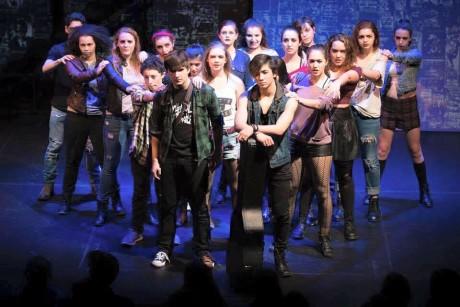 The cast of 'American Idiot.' Photo by Carmelita Watkinson.