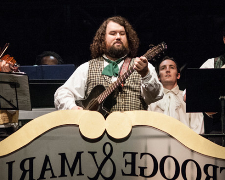 Nicholas Delaney in the 'A Christmas Carol' band. Photo by Teresa Castracane Photography, LLC .