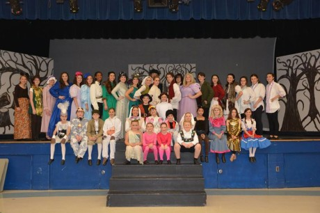 The cast of 'Into the Woods, Jr.' Photo courtesy of Aldersgate Church Community Theater.