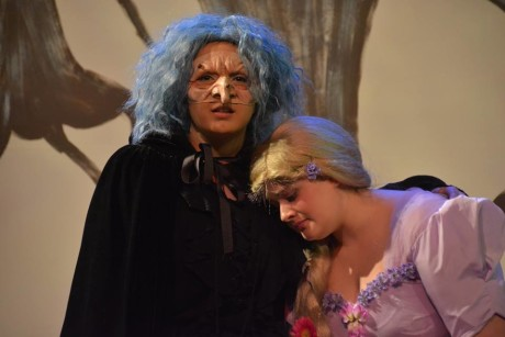 (The Witch) and (Rapunzel). Photo courtesy of Aldersgate Church Community Theatre.