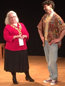 Lorraine Bouchard as the Countess and Joshua Engel as the Clown. Photo by Melissa Schick.