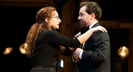 Tracee Chimo and Rob McClure. Photo by Joan Marcus.