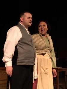 Kevin Diana (Sweeney Todd) and Taunya Ferguson (Mrs. Lovett). Photo by Jerry Dale.