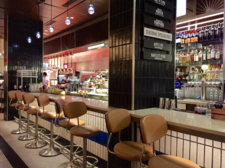 The bar at Silver.