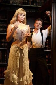 Kristen Beth Williams (Sibella Hallward) and Kevin Massey (Monty Navarro). Photo by Joan Marcus.