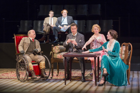 the cast of the Shakespeare Theatre Company's production of 'The Real Inspector Hound. Photo by Scott Suchman.