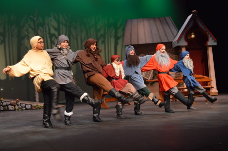 The seven dwarves welcomes Snow White! Photo by Aileen Pangan.
