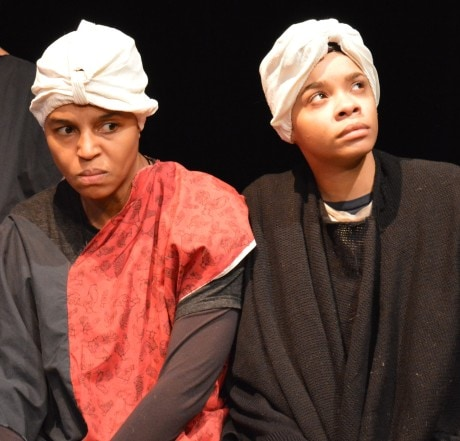 Nelly's Fear: Kashi-Tara (Nelly) and Linaé Bullock (Harriet Tubman). Photo by Photo by Mike Biggz.