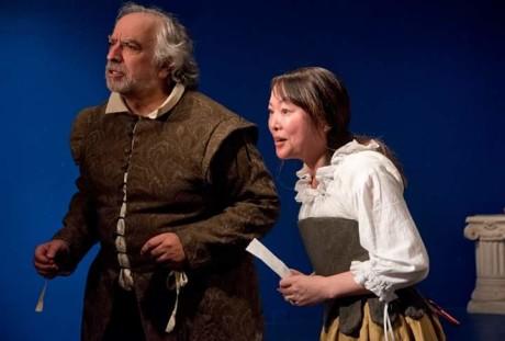 John Sadowsky (Sir Toby Belch) and Lorrie Smith (Mariah). Photo by Joshua McKerrow.