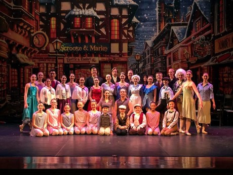 The cast of 'A Christmas Carol.' Photo courtesy of Charm City Ballet.