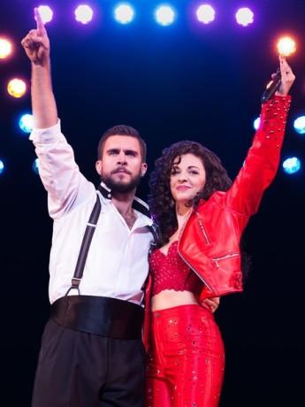Josh Segarra (Emilio) and Ana Villafane (Gloria). Photo by Matthew Murphy.