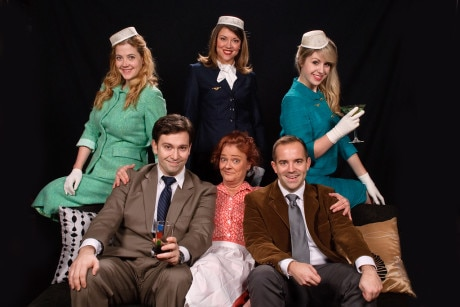 The cast of 'Boeing Boeing.' Photo courtesy of Colonial Players.