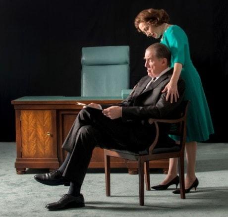 Nick Wyman (President Lyndon Johnson) and Denise Cormier (Lady Bird Johnson). Photo by John Revisky.