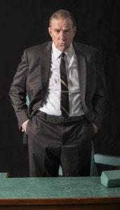 Nick Wyman as President Lyndon Johnson. Photo by John Revisky.