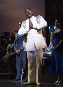 Norm Lewis (The Lord's General). Photo by Joan Marcus. Cabin in the Sky New York City Center Cast List: Denisha Ballew, Darius Barnes, Chloe Davis, Timothy L. Edwards, Doug Eskew, Carmen Ruby Floyd, André Garner, Nkrumah Gatling, Rebecca L. Hargrove, Bahiyah Hibah, Andrea Jones-Sojola, Jared Joseph, Kristolyn Lloyd, Tiffany Mann, Sydney Morton, Mayte Natalio, Wayne Pretlow, Malaiyka Reid, Devin L. Roberts, Willie Smith III, Jay Staten, Dennis Stowe, Nicholas Ward, Hollie E. Wright Production Credits: Ruben Santiago-Hudson (director) Camille A. Brown (choreography) Rob Berman (music director) Other Credits: Lyrics by: John Latouche Music by: Vernon Duke Book by Lynn Root - See more at: http://www.playbill.com/events/event_detail/cabin-in-the-sky-at-new-york-city-center-381004#sthash.8OQJLxbB.dpuf