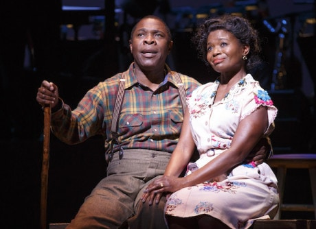 Michael Potts ('Little Joe' Jackson) and LaChanze (Petunia Jackson). Photo by Joan Marcus.