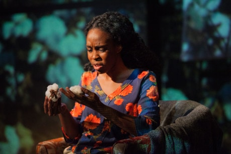 Nadine (Ime Essien) is faced with the ghosts of her family's past. Photo by DJ Corey Photography.