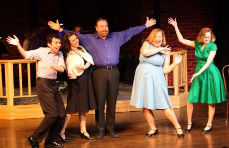 Danny Santiago, Lauren-Nicole Gabel, Brian Lyons-Burke, and Rachel Weisenthal. Photo by Scott D'Vileskis.