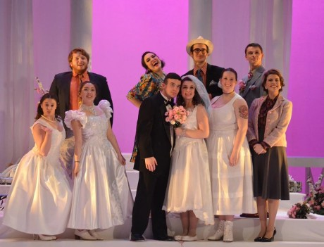 Sarah Yoney, Jacob Gallo, Kate Anderson-Song, Izzy Smelkinson, Tristan Salvon-Harman, Emily Corinne Smith, Patrick Kavanagh, Hannah Ruth Wellons, David Brewer, and Robin Weiner. Photo by : Emily Pound.