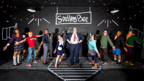 The cast of '25th Annual Putnam County Spelling Bee.' Photo by Rob Clatterbuck.