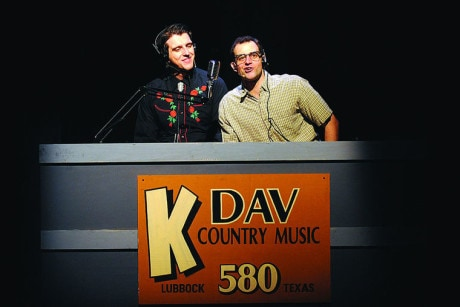 Wyn Jake Delano (Joe Mauldin), with Todd Meredith (Buddy Holly). Photo by Suzanne Carr Rossi/The Free Lance-Star.