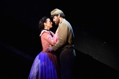 Isabel Leonard and Jarrett Ott. Photo by Kelly & Massa for Opera Philadelphia.