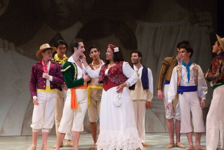 Anamer Castrello (Carmen) and cast members. Photo by Angelisa Gillyard.