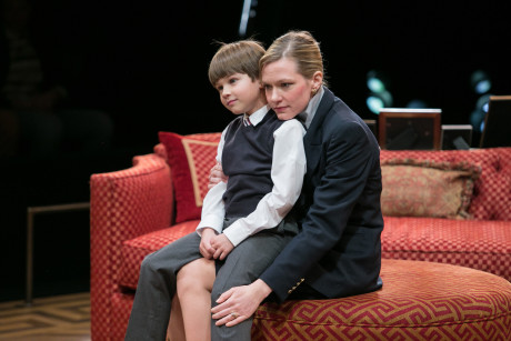 (L-R) Tyler Smallwood (Young Ethan) and Caroline Hewitt (Anna Fitzgerald). Photo by C. Stanley Photography.