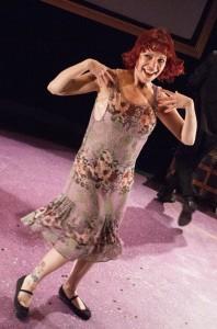 Amanda Schoonover as Clara Bow. Photo by Kathryn Raines.