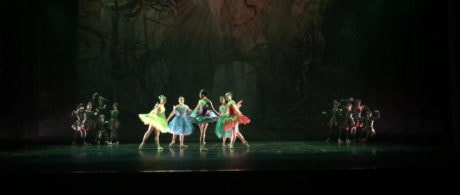 The Fairies and Princess Plum traveling through the Bitter Land. Photo courtesy of Maryland Ballet Theatre.