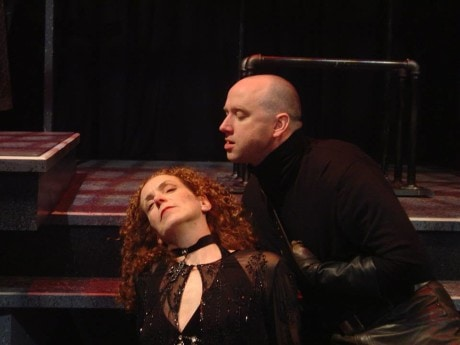 Sally Mercer and Pete Pryor in 'Richard III' at Lantern Theater Company, in 2006. Photo by Janet Embree.