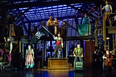 The Ensemble of 'Peter and the Starcatcher.' Photo by Mark Garvin.