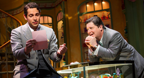 Zachary Levi (Georg) and Michael McGrath (Sipos). Photo by Joan Marcus.