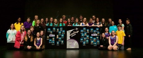 Members of Tap and Tap Jr celebrating their success of 'Center Stage.'