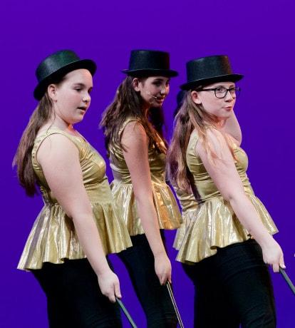 "Hannah Marill, Elise Prosen and Shannon Snape ""Putting on the Ritz."" Photo by Carmelita Watkinson."