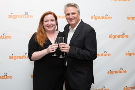 Artistic Director Eric Schaeffer and Managing Director Maggie Boland at Signature's 25th Anniversary Gala. Photo by Teresa Wood.
