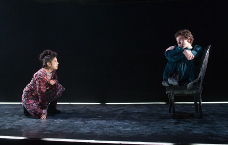 Leigha Kato (Saint Joan), and Andrew Betz (The Dauphin). Photo by Shawn May.