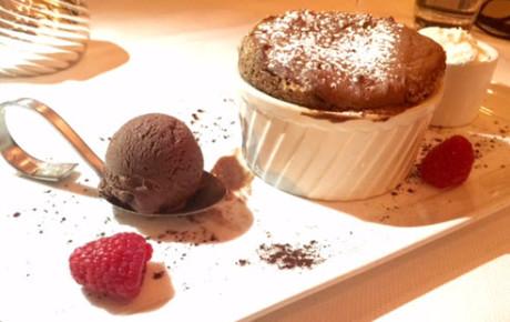 Pastry Chef Josh Short's Chocolate Soufflé.