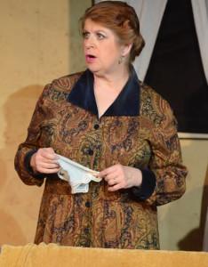 Jill Kyle-Keith (Mrs. Van Daan). Photo by Stan Barouh.