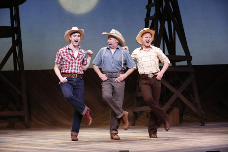Gregory Maheu (Jimmy Curry), Christopher Bloch (H.C. Curry), and Stephen Gregory Smith (Noah Curry). Photo by Carol Rosegg.
