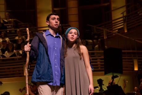 Ari Goldberg-Helzner (Adam/Noah) and Julia Fanzeres (Eve/Mama Noah). Photo by Carmelita Watkinson.