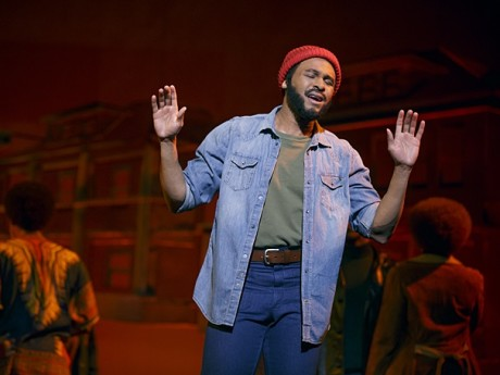Jarran Muse as Marvin Gaye. Photo by Joan Marcus.