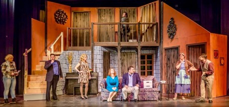 The cast of 'Noises Off.' Photo by Bruce F. Press Photography.