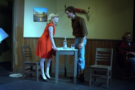 May (Melissa Dunlap) and Eddie (Ryan Sullivan). Photo courtesy of Port City Playhouse.