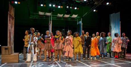 The cast of 'Sarafina!' Photo courtesy of Howard University.