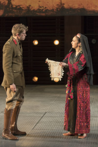 Patrick Vaill (Cassio) and Natascia Diaz (Bianca). Photo by Scott Suchman.