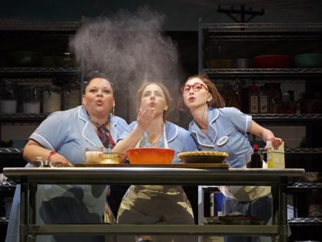 Keala Settle as Becky, Jessie Mueller as Jenna and Kimiko Glenn as Dawn. Photo by Joan Marcus.