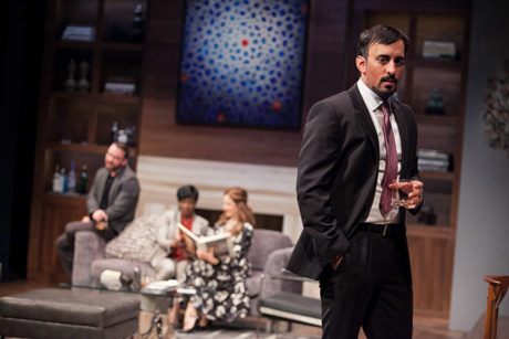 Nehal Joshi as Amir, with Joe Isenberg, Felicia Curry and Ivy Vahanian. Photo by C. Stanley Photography.