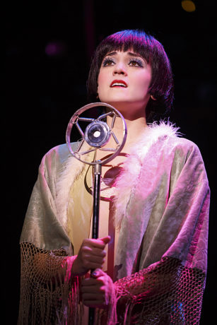 Andrea Goss as Sally Bowles in the 2016 National Touring production of Roundabout Theatre Company's CABARET. Photo by Joan Marcus.